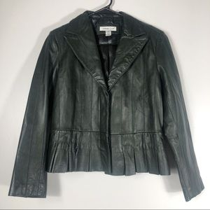 Coldwater Creek Green Genuine Leather Jacket P6